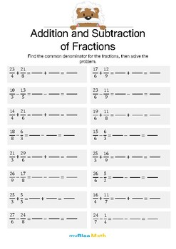 Addition and Substraction of Fractions 5