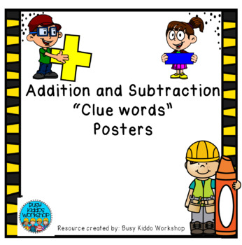 Addition and Subtracting Posters