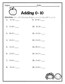 Addition and Subtraction 0-10