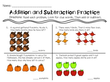 Addition and Subtraction Extra Practice