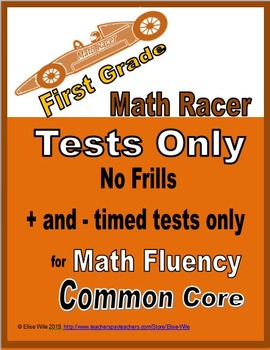 Addition and Subtraction 0-10 Timed Tests ONLY for 1st grade math fluency