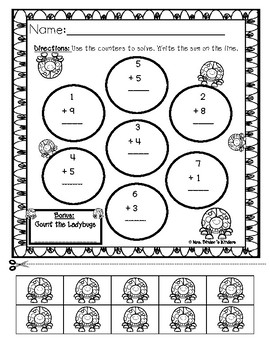Addition and Subtraction 0-10 - (including word problems)