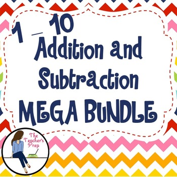 Addition and Subtraction 1 - 10 Activities and Game Mega Bundle