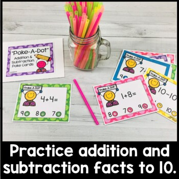 Addition and Subtraction (1-10) Poke Cards