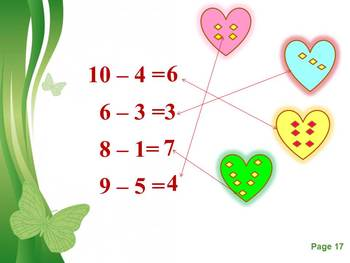Back to School activities Addition and Subtraction - PowerPoint presentation