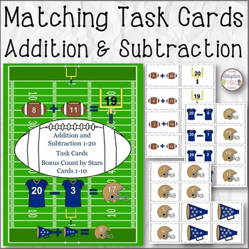 Matching Task Cards Addition and Subtraction