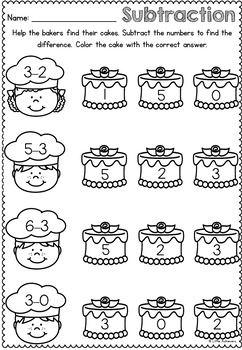 Cupcake Addition and Subtraction