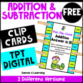 Addition and Subtraction to 20: Free Math Clip Cards