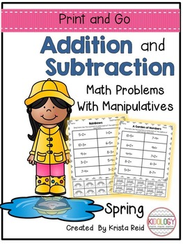 Addition and Subtraction Worksheets and No Prep Printable Activiites