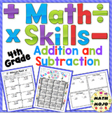 4th Grade Addition and Subtraction - 4th Grade Math Activities Pack