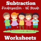 Subtraction | Worksheets | Kindergarten 1st Grade | Subtra