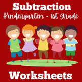 Subtraction Worksheets First Grade Kindergarten