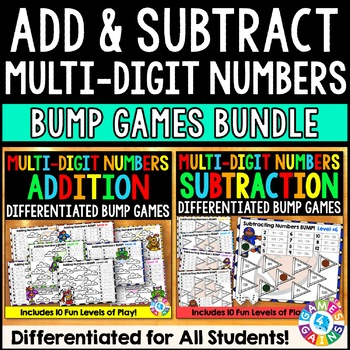 Addition and Subtraction Games Bundle: Adding & Subtractin