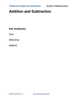 Addition and Subtraction 2