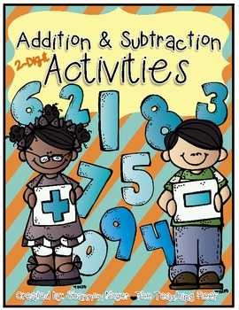 Addition and Subtraction 2-Digit Activities {with and without regrouping}