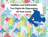 Addition and Subtraction -2-Digit Numbers- Without Regrouping-60 Task Cards-Sea