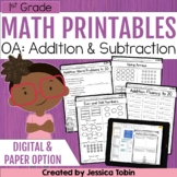 1st Grade Math Printables Worksheets- Operations and Algebraic Thinking OA