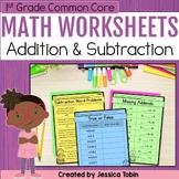 1st Grade Math Worksheets OA Addition and Subtraction- digital Google Slides