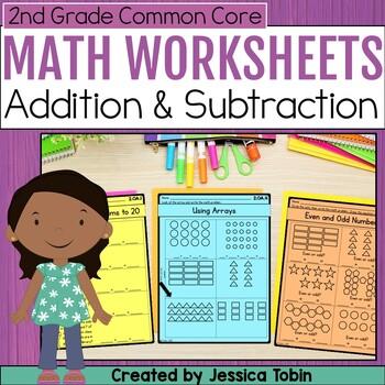 2nd Grade Math Printables Worksheets- Operations and Algebraic Thinking OA