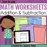 2nd Grade Math Printables Worksheets- Operations and Algebraic Thinking OA