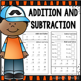 Addition and Subtraction Worksheets Within 10