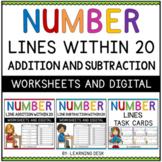 Number Line Addition and Subtraction BUNDLE