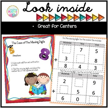 Addition and Subtraction Math Centers and Activities for 3rd and 4th Grades