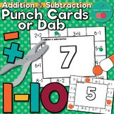 Addition and Subtraction Punch Cards