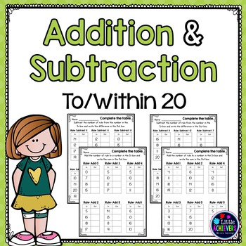 Addition and Subtraction Within 20 Worksheets