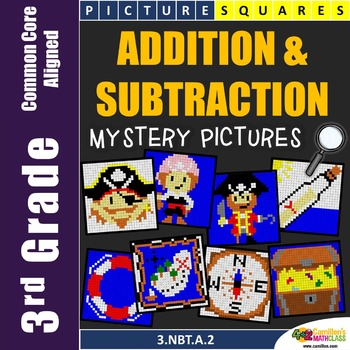 Addition and Subtraction Practice Worksheets, Mystery Pictures