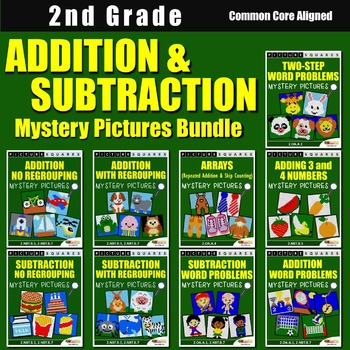 Addition and Subtraction Centers - With/Without Regrouping and Word Problems