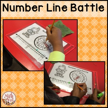 """Number Line Battle """"Adding and Subtracting using a Number Line"""""""