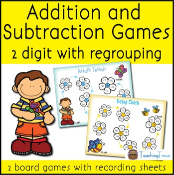 Addition and Subtraction with Regrouping - 2 digit numbers