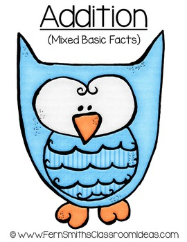 Three Quick and Easy to Prep Mixed Addition and Subtraction Basic Facts Centers