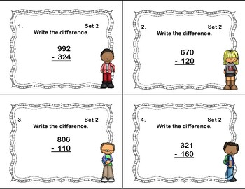 Addition and Subtraction -3-Digit Numbers-With and Without Regrouping-3-4 CCSS