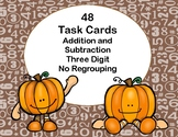 Addition and Subtraction -3-Digit Numbers-Without Regrouping-Fall Theme