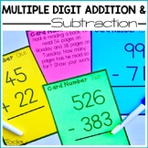Multiple Digit Addition and Subtraction with and without R