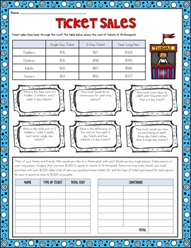 4th Grade Math Unit 2 Addition and Subtraction {Includes 3rd Grade Version}