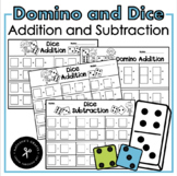 Dominos and Dice Addition / Subtraction Math Centers
