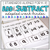 Addition and Subtraction Adapted Work Binder