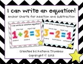 Addition and Subtraction Anchor Charts and Journal Cut and Paste