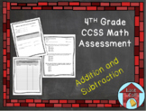Addition and Subtraction Assessment CCSS Aligned