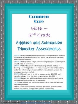 Addition and Subtraction Assessment Packet