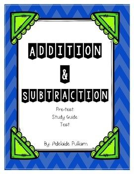 Addition and Subtraction Assessment Unit (use with Magic of Math 3rd Grade)