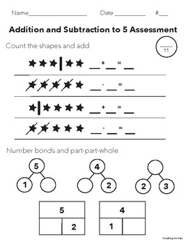 Addition and Subtraction Assessment to 5