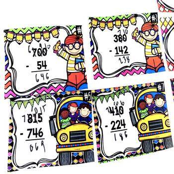 Addition and Subtraction Back to School Game