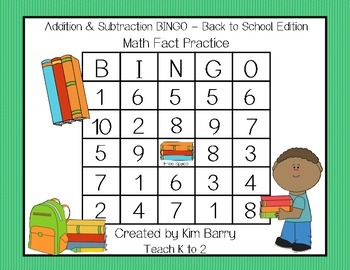 Addition and Subtraction BINGO - Back to School Edition