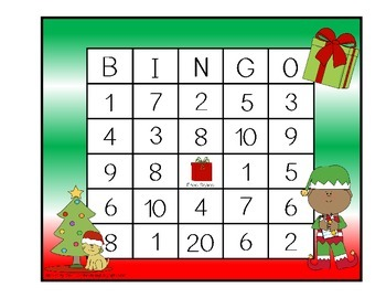 Addition and Subtraction BINGO - Christmas Edition