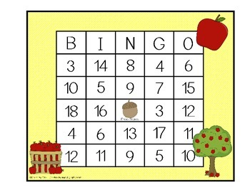 Addition and Subtraction BINGO - Fall Edition