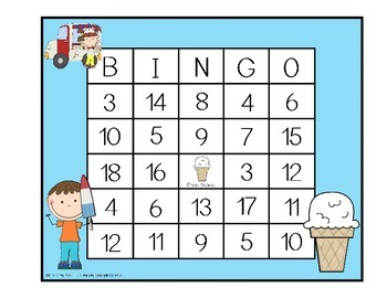 Addition and Subtraction BINGO - Ice Cream Kids Edition